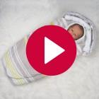 Babynest Streifchen - Detailansicht Stoffe 2