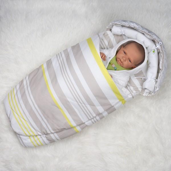 Babynest Streifchen - Gesamtansicht Stoff 2