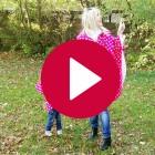 Rubinchen-Cape pink Rückenansicht