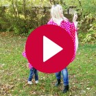 Rubinchen-Kindercape pink