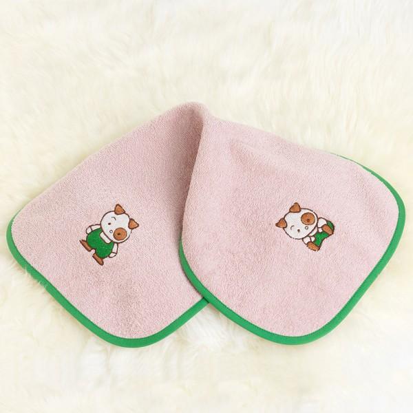 rosa Schultertuch Hund