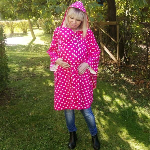 Rubnchen-Cape pink mit Babyeinsatz