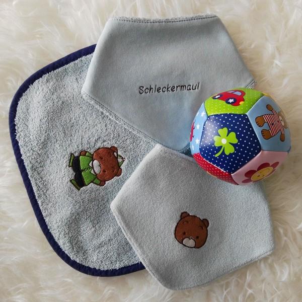 hellblaues Rubinchen-Set Bär