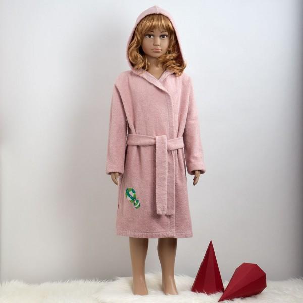 rosa Kinderbademantel Bälle